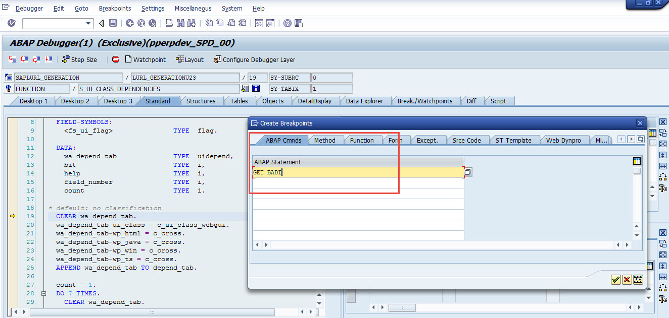 how to find badi in sap
