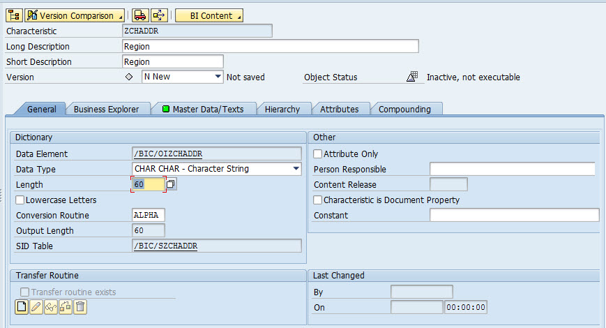 how to create infoobject in sap bw sap tutorial