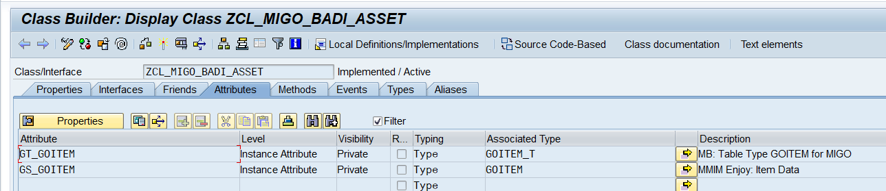 Add 2 Attributes in Enhancement Implementation Class